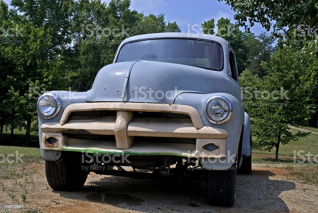 Vintage Truck on the Side of a road royalty-free stock photo