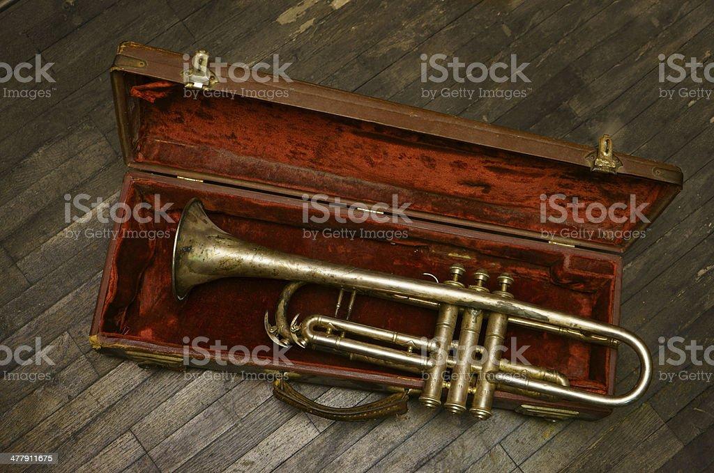 Vintage Trumpet royalty-free stock photo