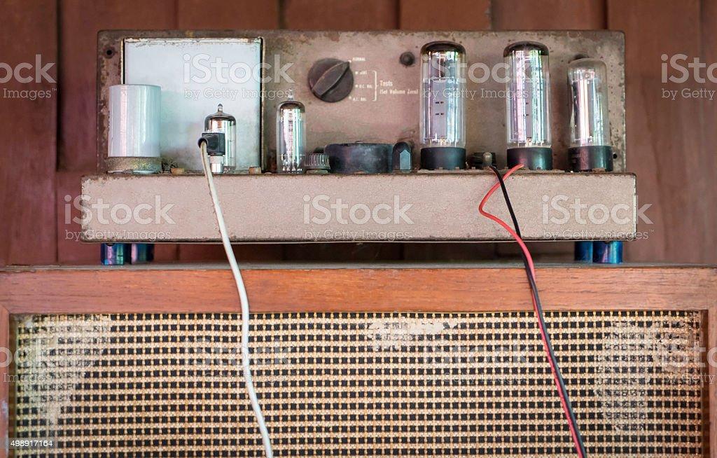 Vintage Tube Amplifier stock photo