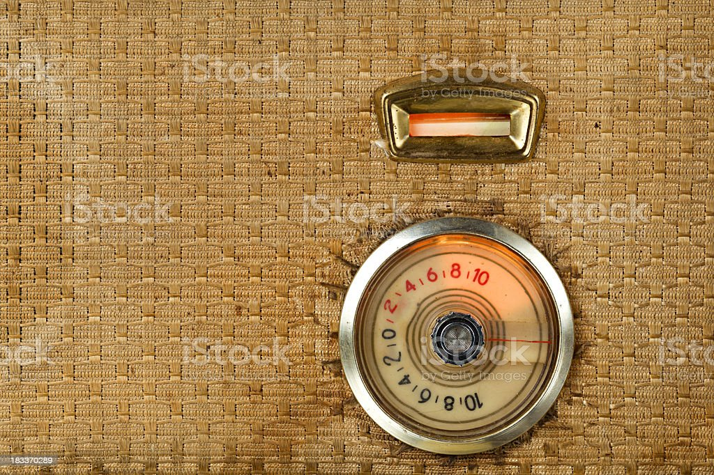 Vintage Tube Radio Detail stock photo