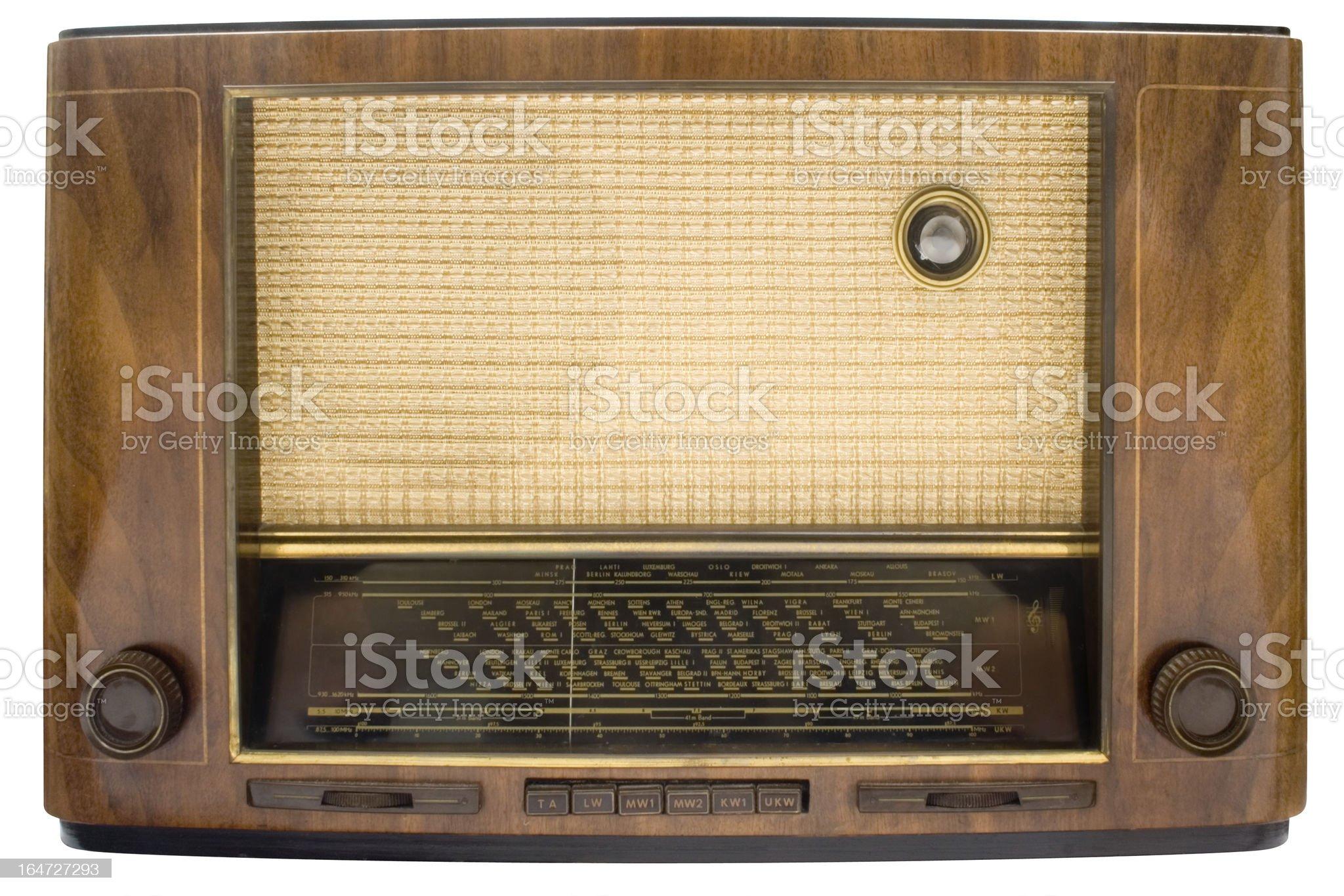 Vintage Tube Radio w/ Path royalty-free stock photo