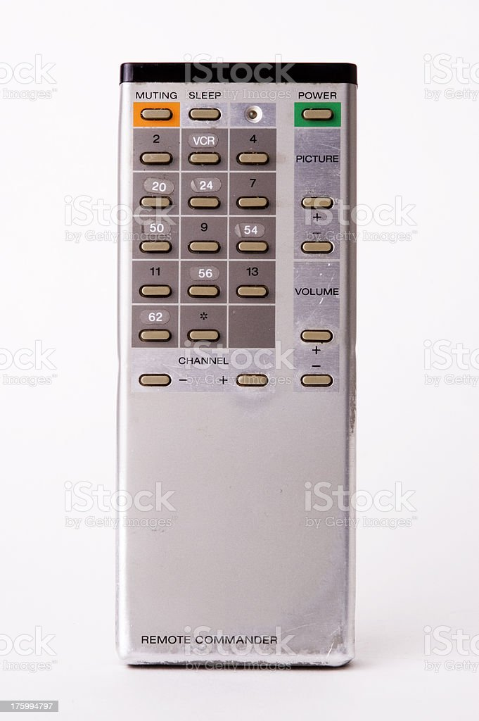 Vintage TV Remote royalty-free stock photo