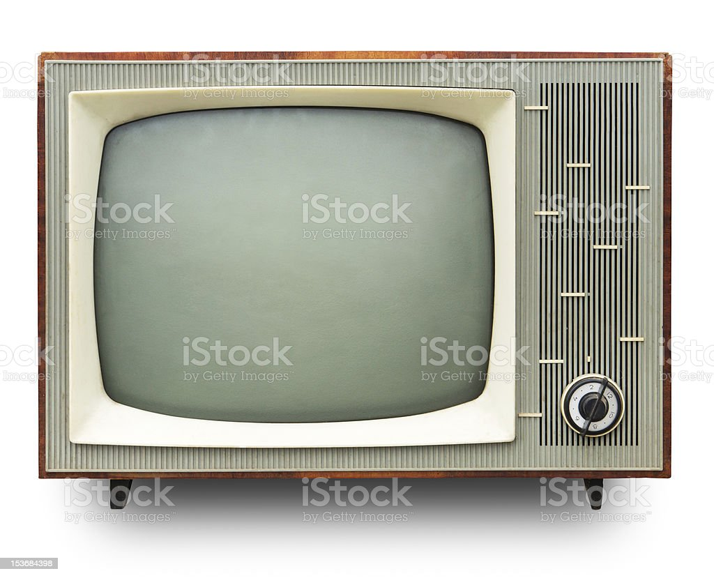 Vintage TV set. stock photo