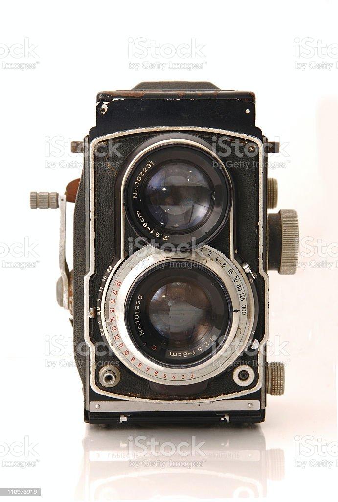 Vintage twin reflex camera royalty-free stock photo