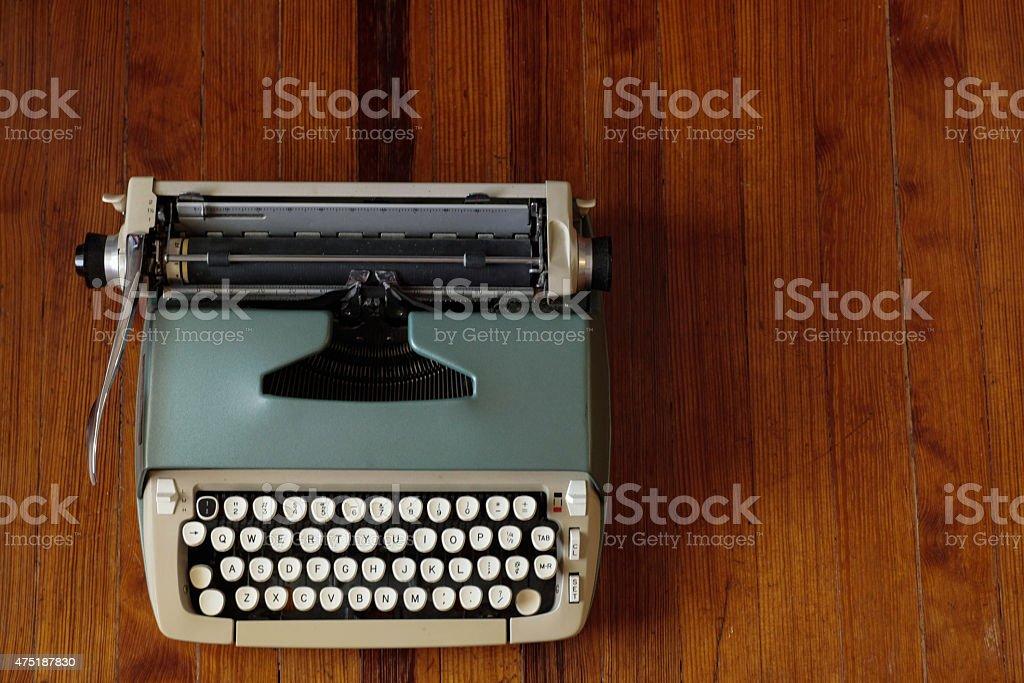 vintage type writer stock photo