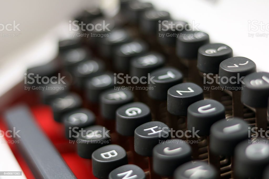 Vintage Typewriter Closeup stock photo