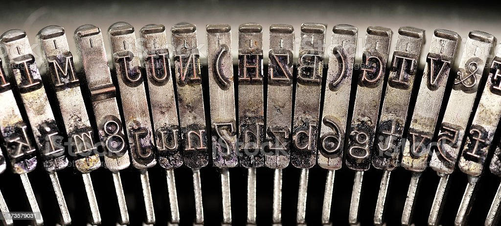 Vintage typewriter detail. royalty-free stock photo