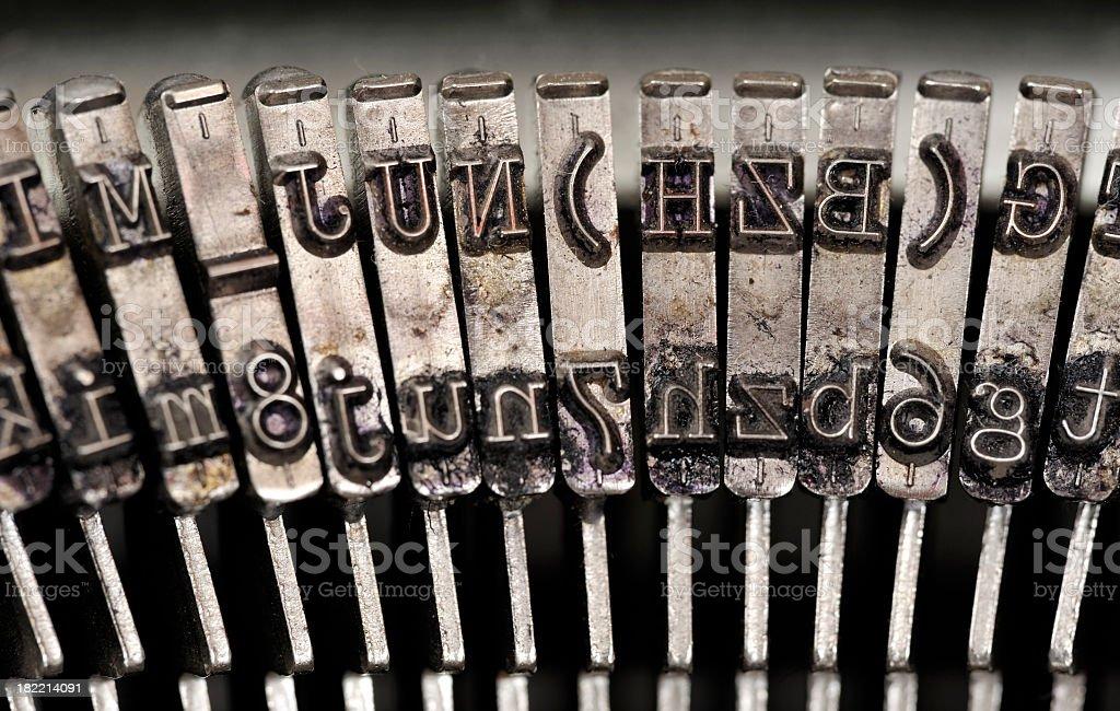 Vintage typewriter detail. royalty-free stock photo
