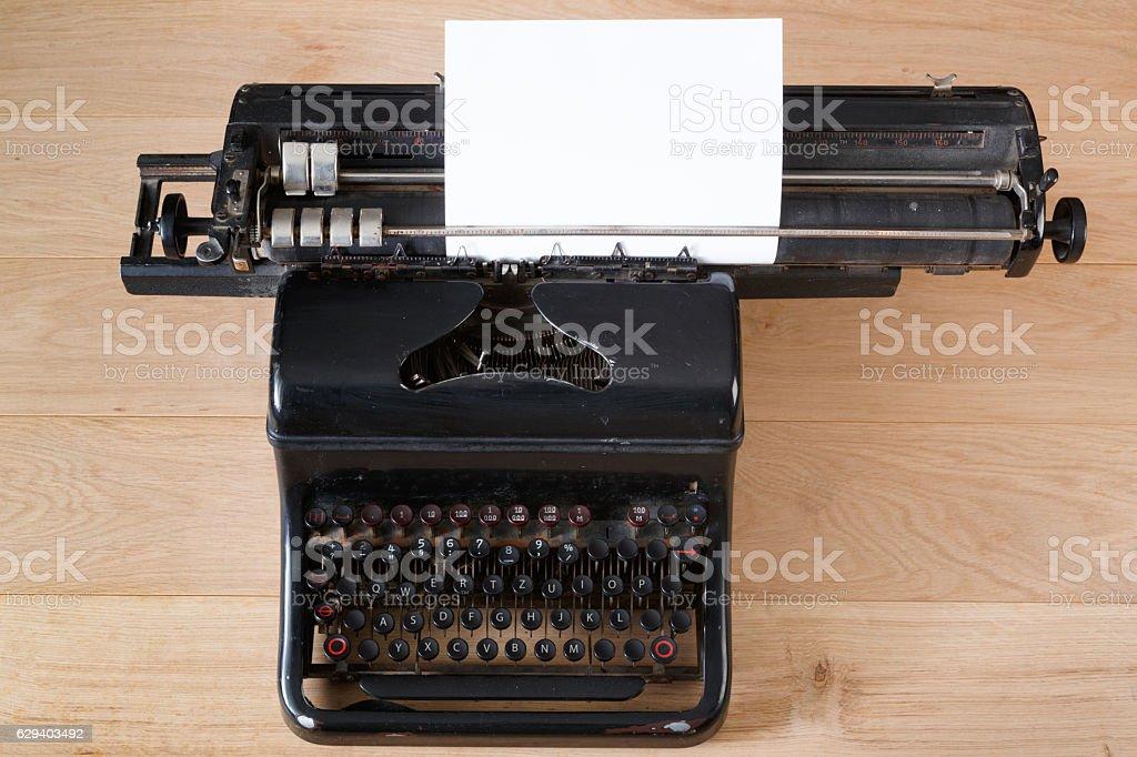 Vintage typewriter, journalism and writing concept stock photo