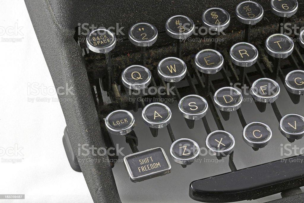 Vintage Typewriter Keyboard royalty-free stock photo