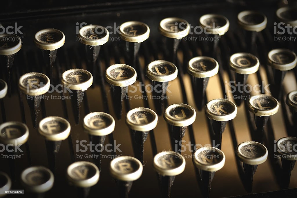 vintage typewriter keys royalty-free stock photo