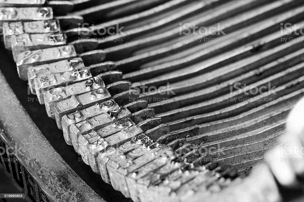 Vintage Typewriter Letters stock photo