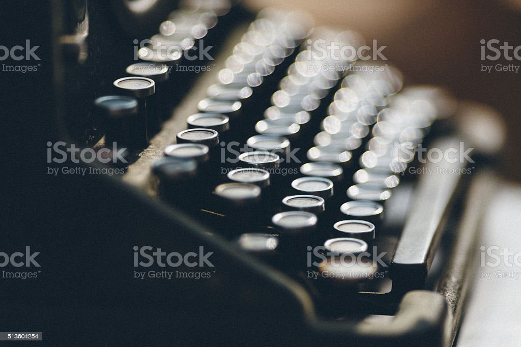 Vintage Typewriter with Grain stock photo