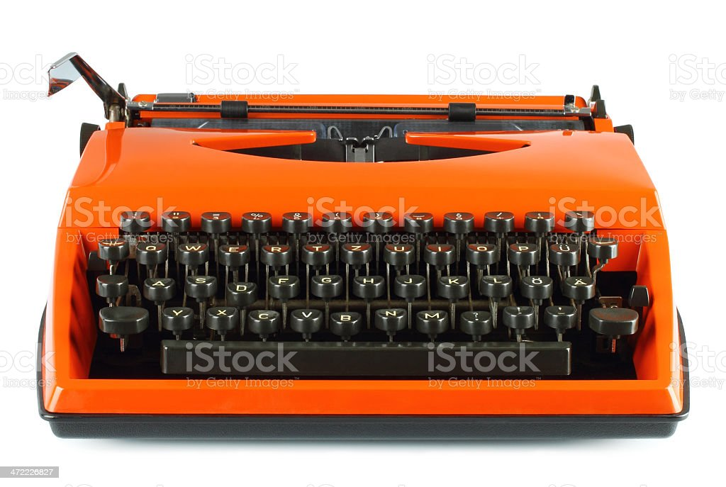 Vintage typing machine stock photo