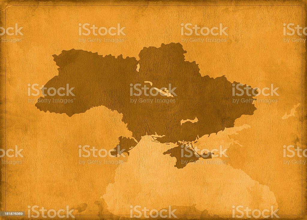 Vintage Ukraine map royalty-free stock photo