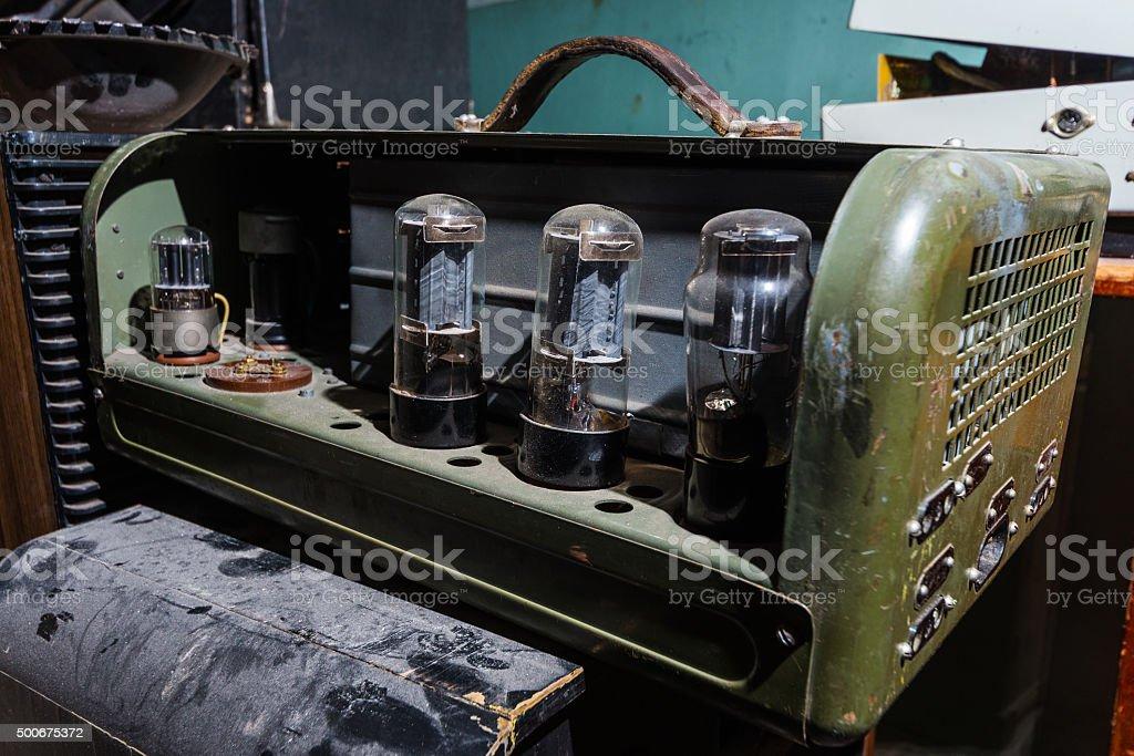 Vintage Valve Amplifier stock photo