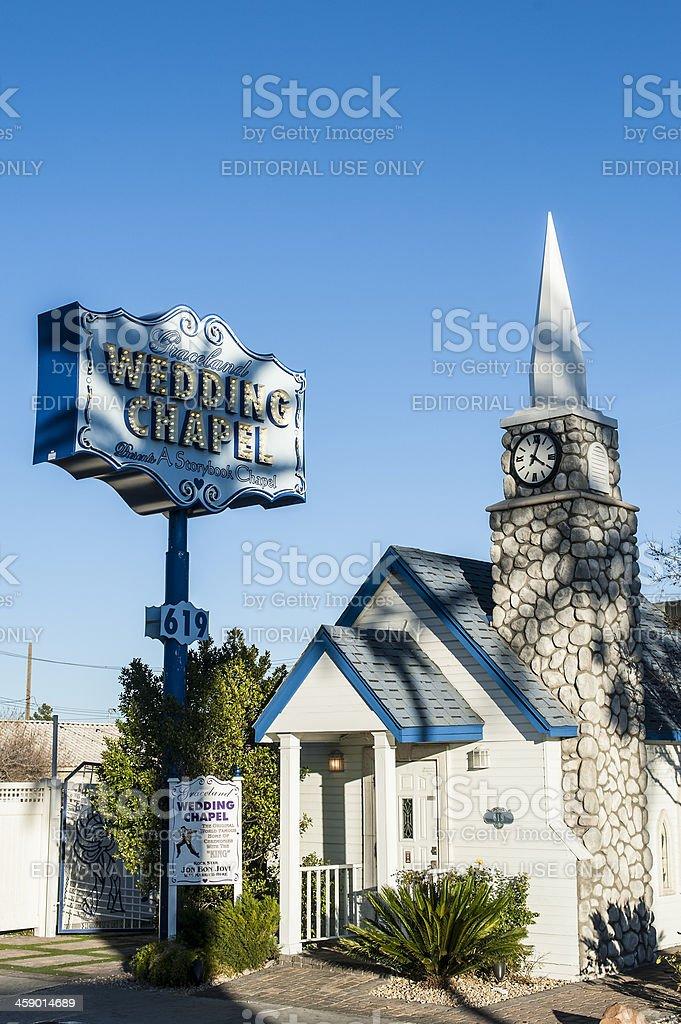 Vintage Vegas Graceland Wedding Chapel Stock Photo 459014689