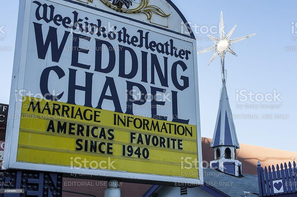 Vintage  Vegas: Wee Kirk of the Heather Wedding Chapel royalty-free stock photo