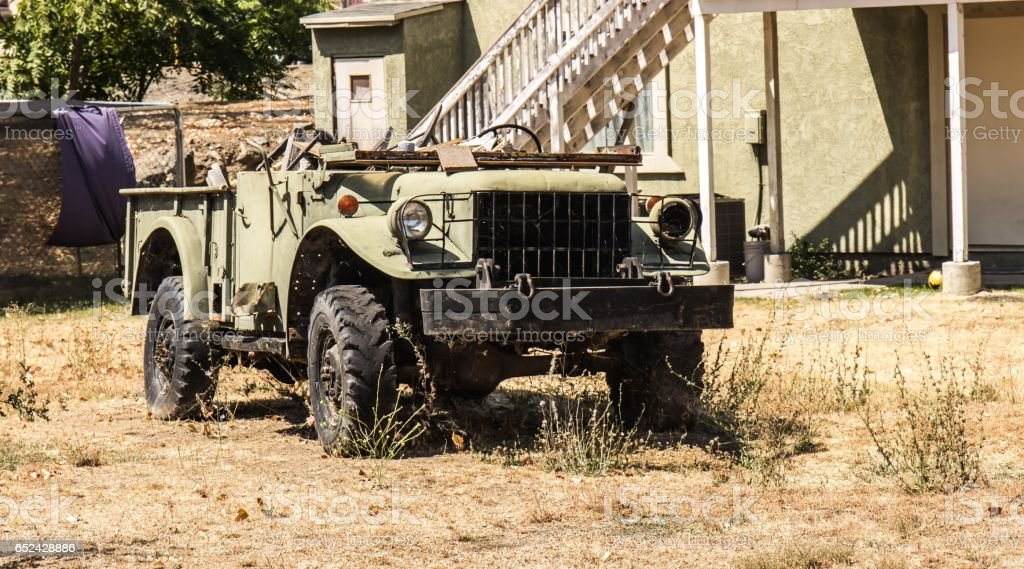 Vintage Vehicle In Disrepair stock photo
