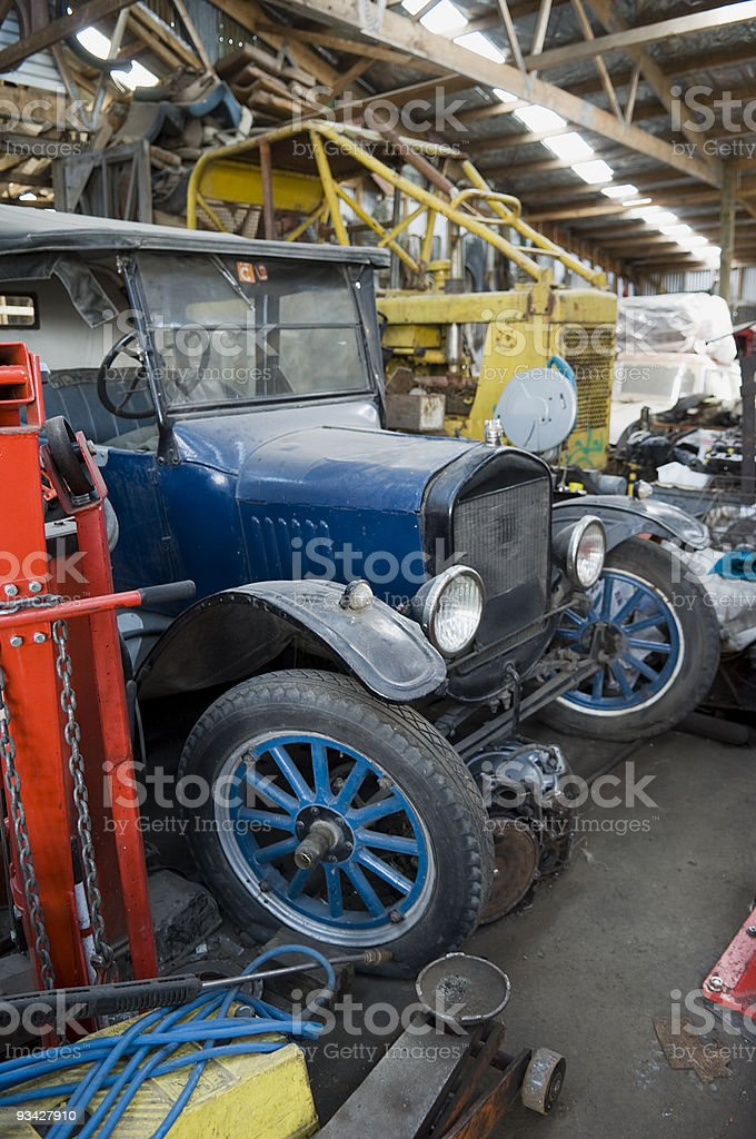 Vintage Vehicle in the Shed royalty-free stock photo