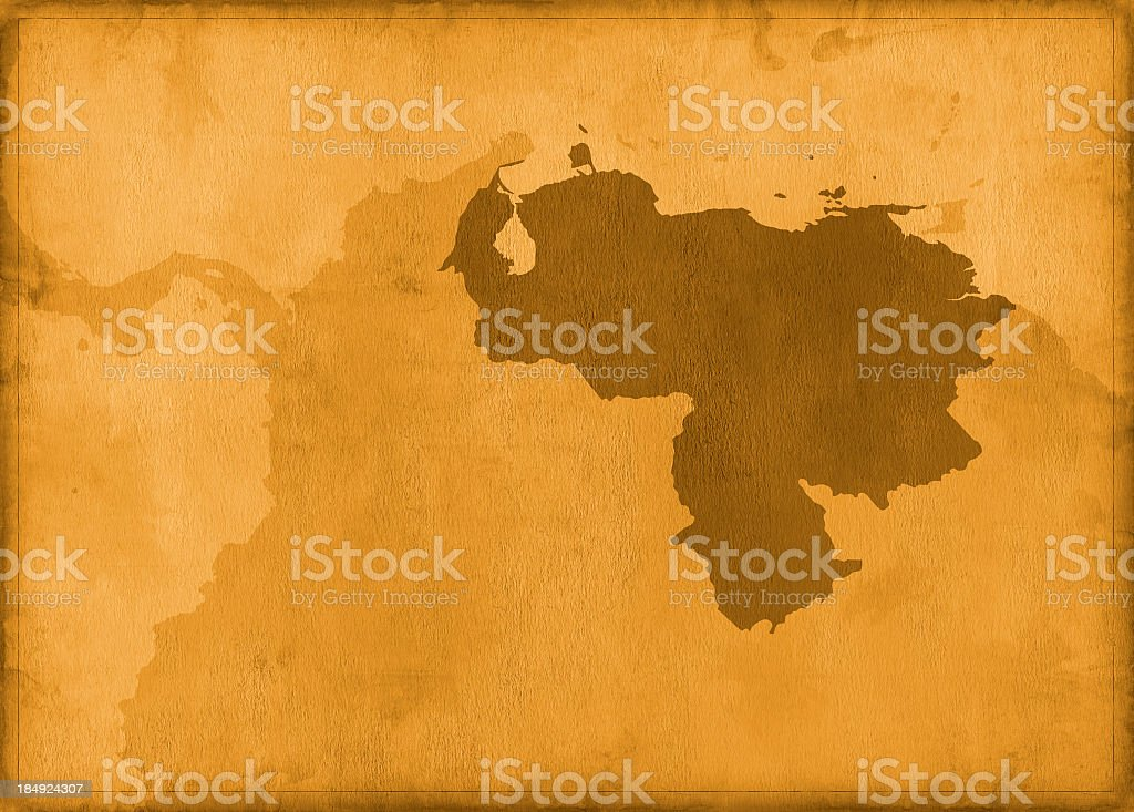 Vintage venezuela map royalty-free stock photo