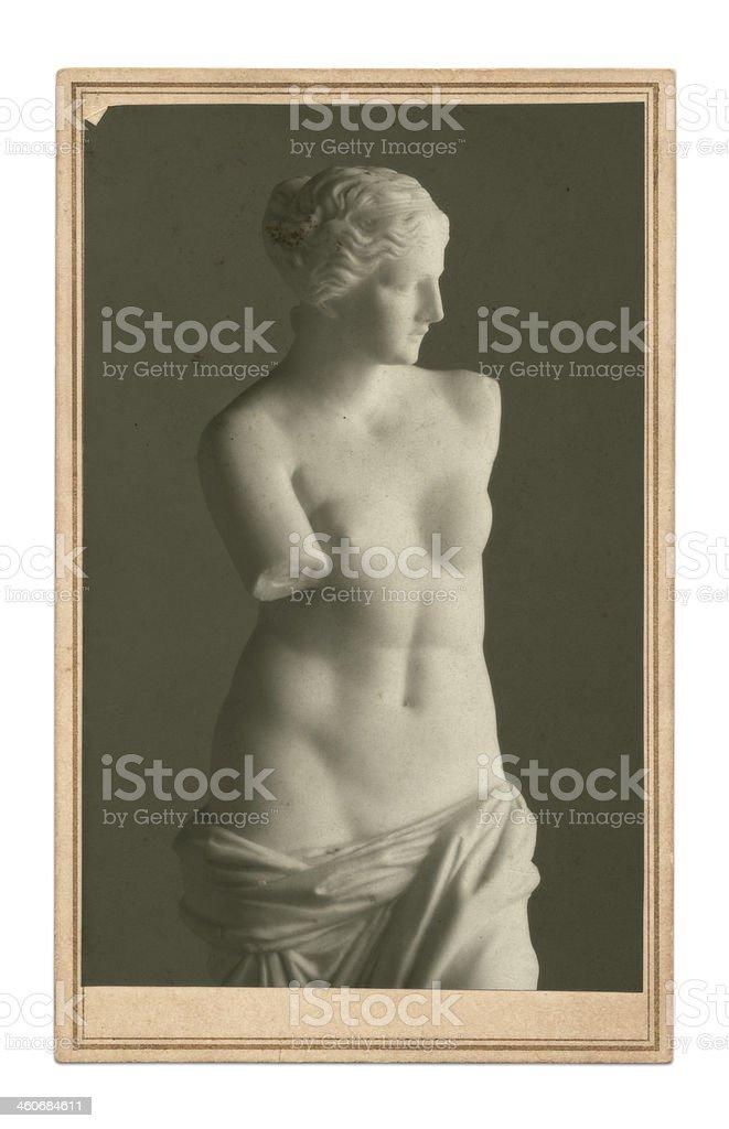 Vintage Venus de Milo photo stock photo