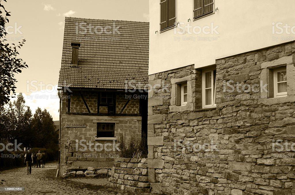 Vintage Village World royalty-free stock photo
