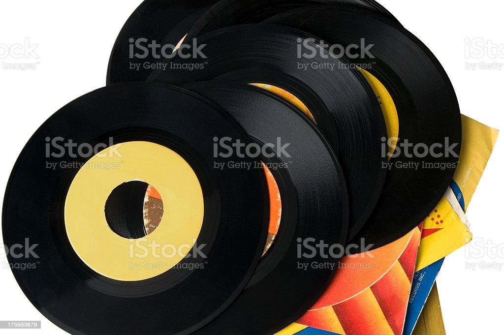 45 giri in vinile Vintage record foto stock royalty-free