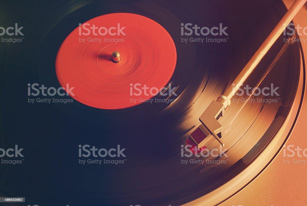 Vintage Vinyl player stock photo