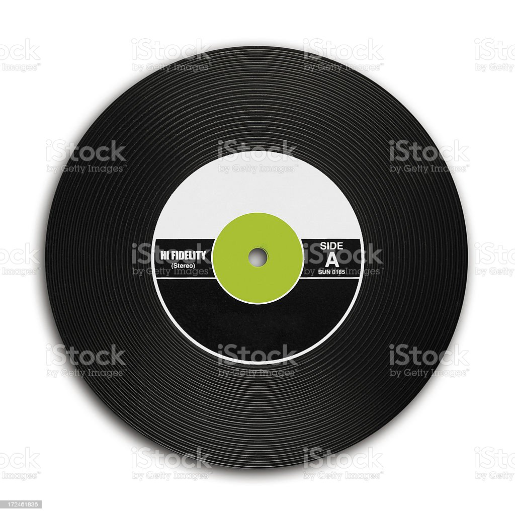 Vintage Vinyl Records stock photo