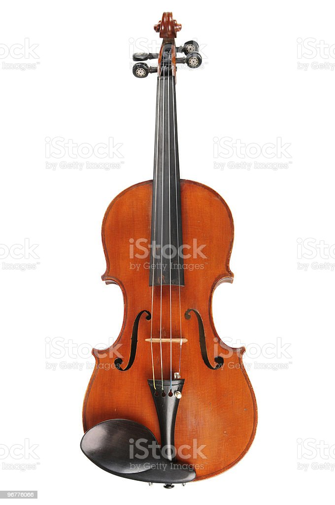 Vintage Violin in Frontal View stock photo