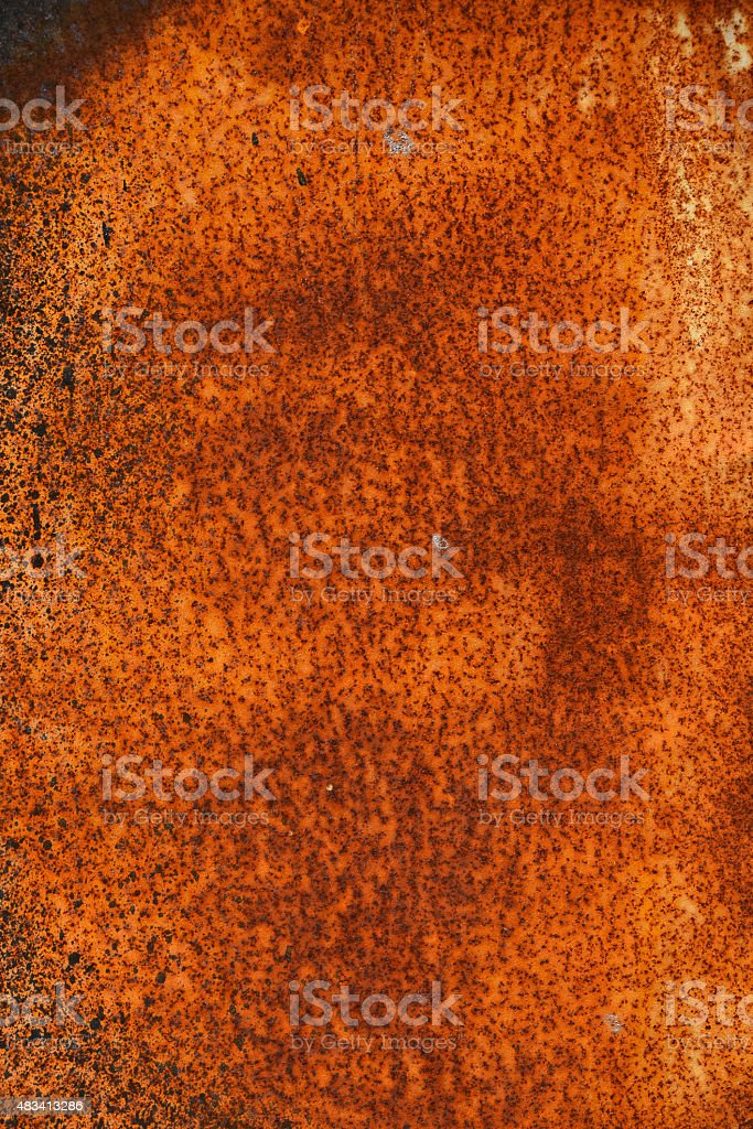 Vintage vivid rust stained corroded metal surface royalty-free stock photo