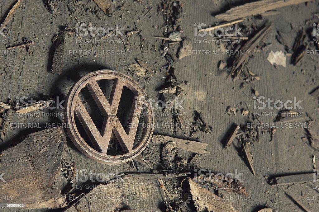 Vintage Volkswagen Emblem stock photo