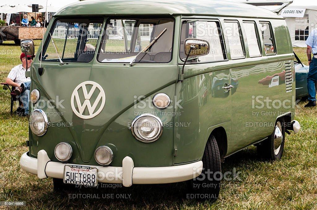 Vintage Volkwagen Bus stock photo