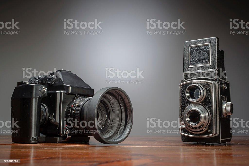 Vintage vs contemporary stock photo