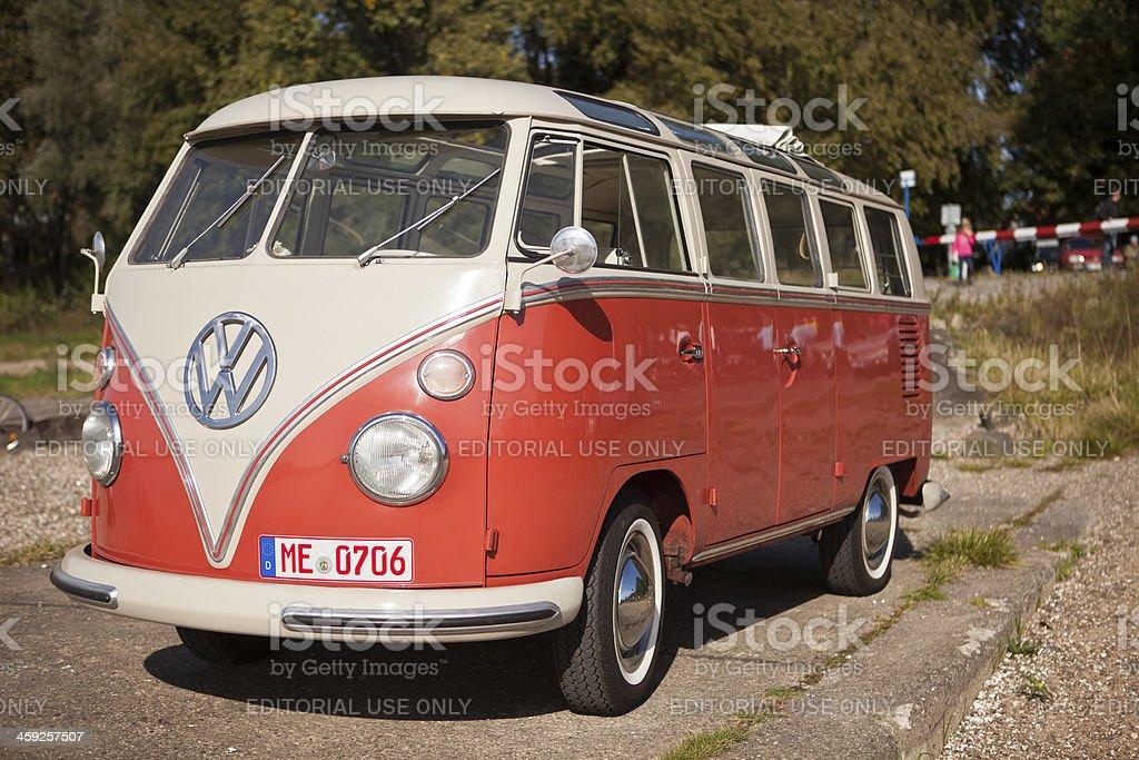 vintage VW bus royalty-free stock photo