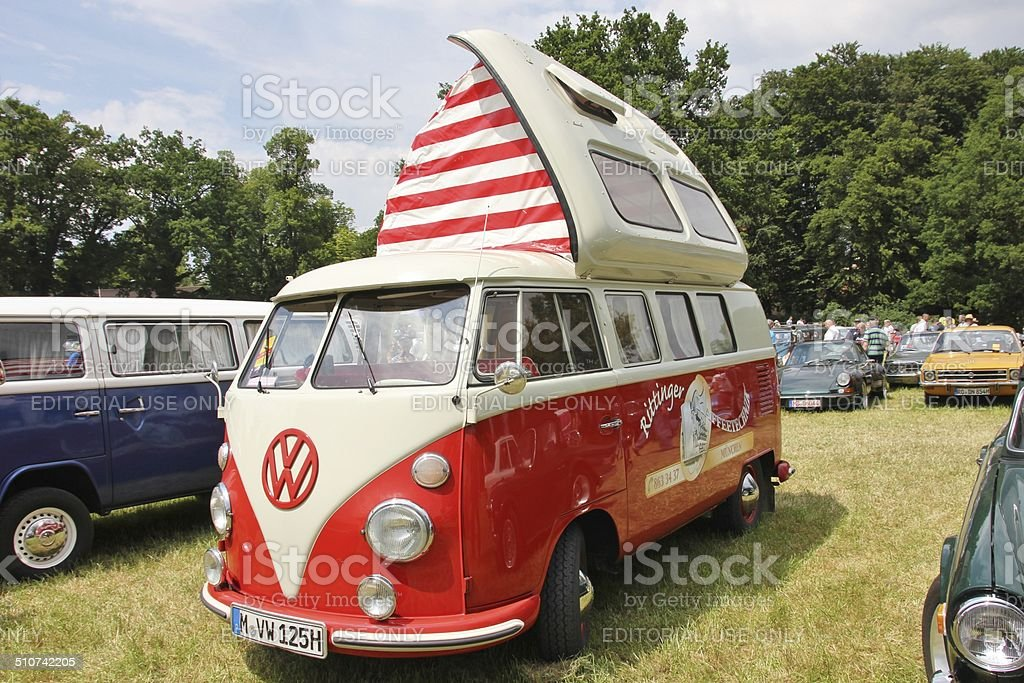 Vintage VW Bus T 1 stock photo