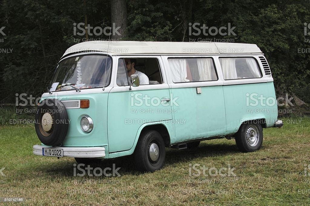 Vintage VW Bus T 2 stock photo