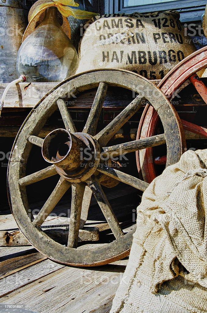 Vintage wagon wheel royalty-free stock photo