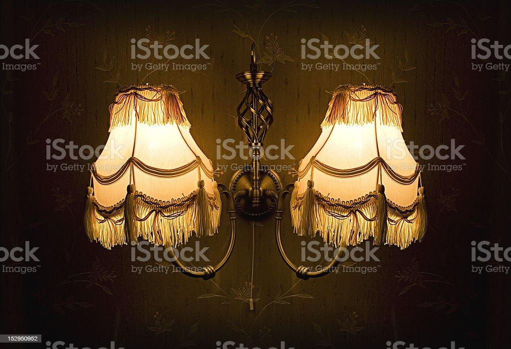 Vintage wall lamp royalty-free stock photo