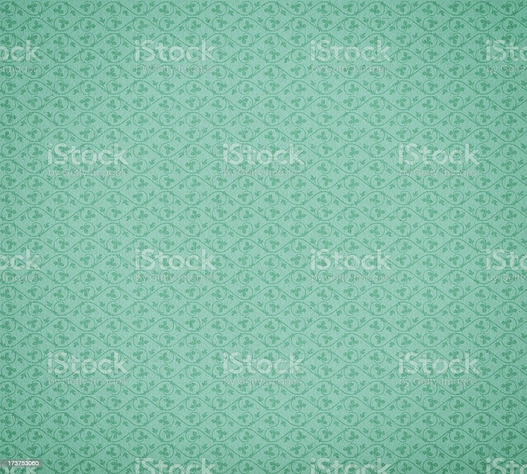 vintage wallpaper with ivy pattern stock photo