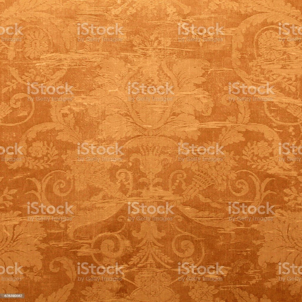 Vintage wallpaper with shabby tapestry pattern stock photo