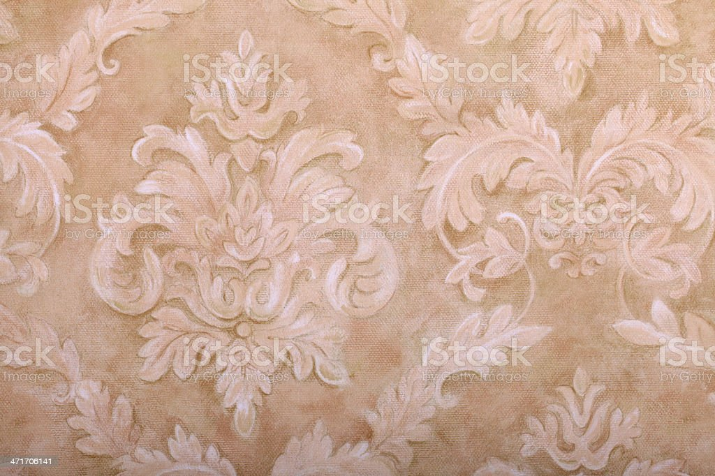 Vintage  wallpaper with vignette pattern stock photo
