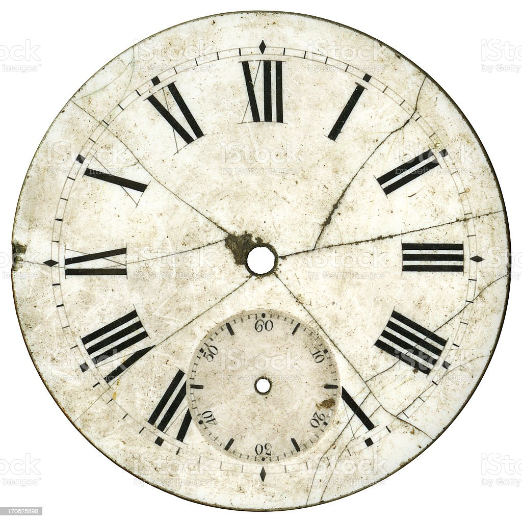 Vintage Watch Dial royalty-free stock photo