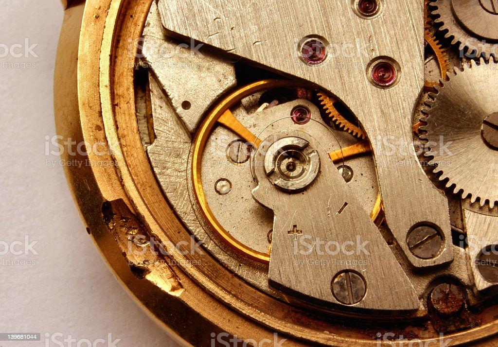 vintage watch mechanism #2 royalty-free stock photo