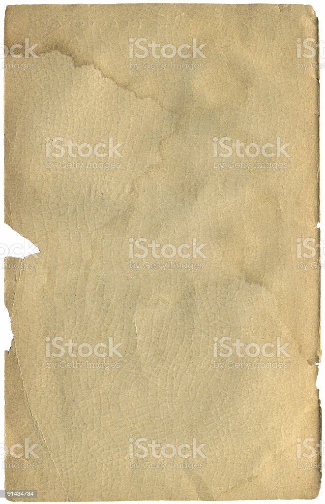 Vintage water damaged page royalty-free stock photo