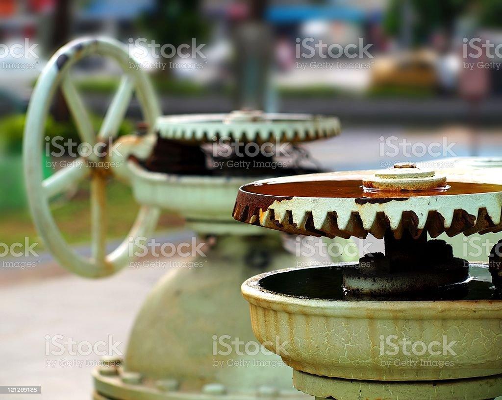 Vintage Water Pump Gears stock photo