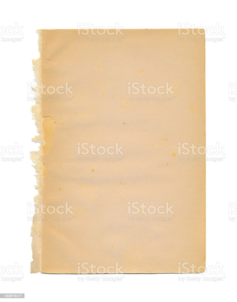 Vintage weathered frayed paper royalty-free stock photo