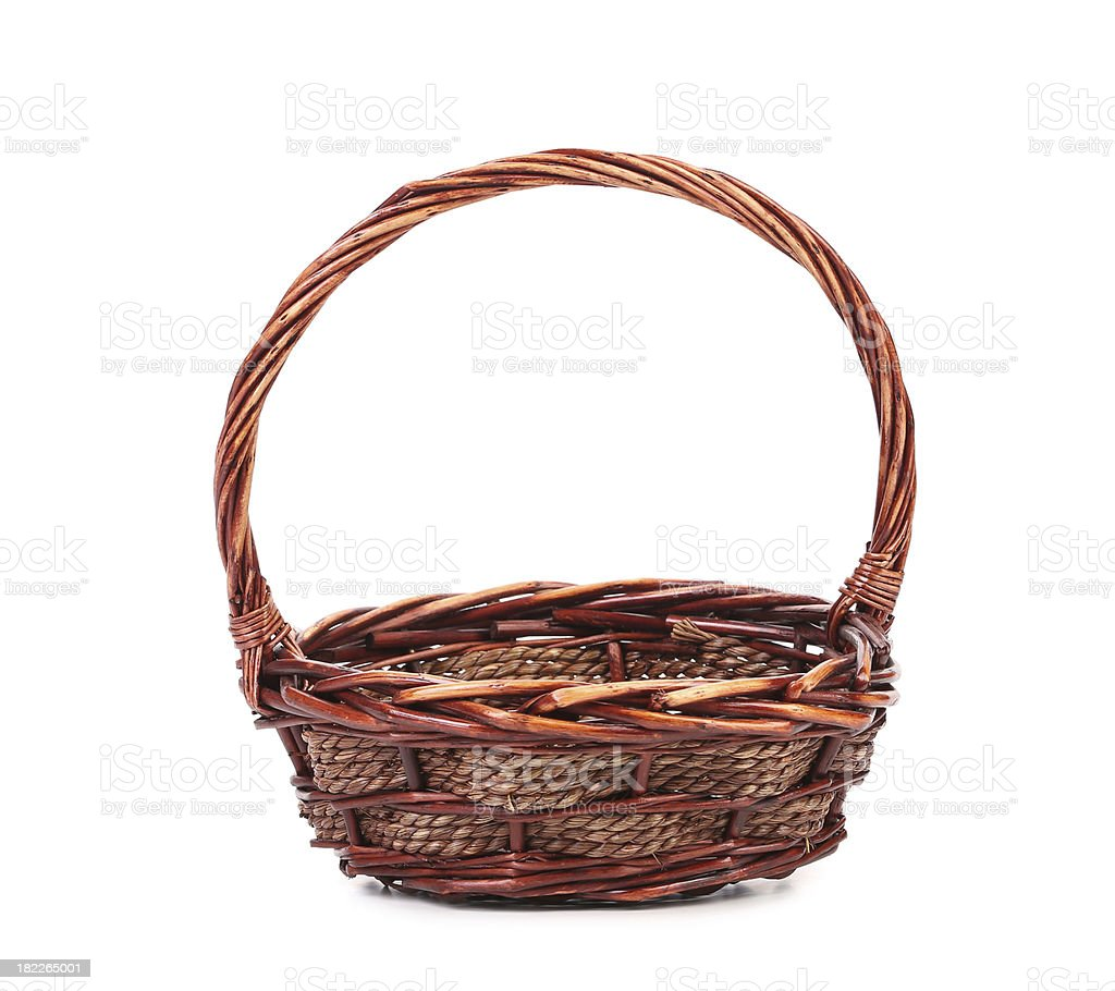 Vintage weave wicker basket royalty-free stock photo