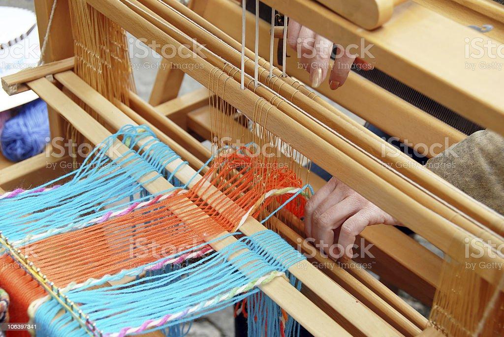 Vintage weaving royalty-free stock photo